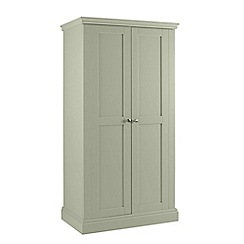 Debenhams - Pale green 'Oxford' double wardrobe