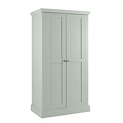Debenhams - Pale blue 'Oxford' double wardrobe
