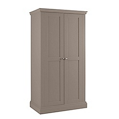 Debenhams - Dark grey 'Oxford' double wardrobe