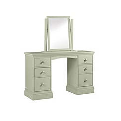 Debenhams - Pale green 'Oxford' dressing table with mirror