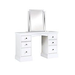 Debenhams - White 'Oxford' dressing table with mirror
