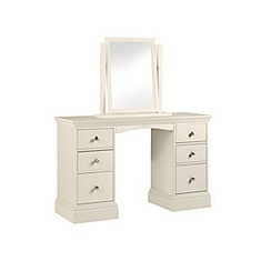 Debenhams - Cream 'Oxford' dressing table with mirror