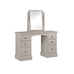Debenhams - Taupe 'Oxford' dressing table with mirror