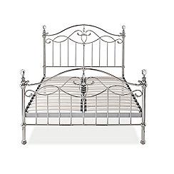 Debenhams - Nickel-plated 'Elena' bed frame