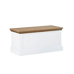 Debenhams - Oak and white 'Oxford' storage chest