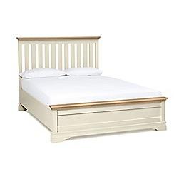 Debenhams - Oak and cream 'Oxford Imperial' bed frame