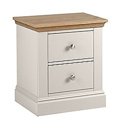 Debenhams - Oak and grey 'Oxford' bedside cabinet with 2 drawers