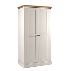Debenhams - Oak and grey 'Oxford' double wardrobe