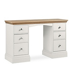 Debenhams - Oak and grey 'Oxford' dressing table