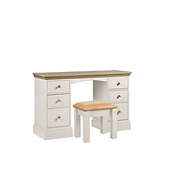 Debenhams - Oak and grey 'Oxford' dressing table with stool