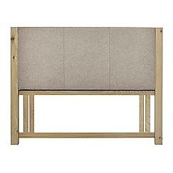 Debenhams - Oak 'Turin' grey upholstered headboard