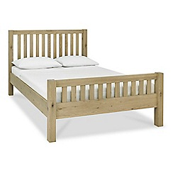 Debenhams - Oak 'Turin' slatted bed frame
