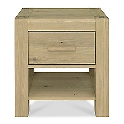 Debenhams - Oak 'Turin' bedside cabinet with single drawer