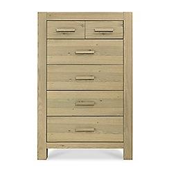 Debenhams - Oak 'Turin' 6 drawer chest