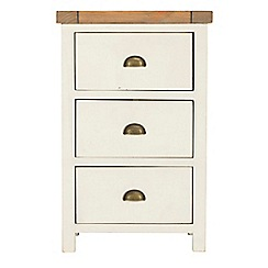 Debenhams - Two-tone 'Toscana' bedside cabinet with 3 drawers