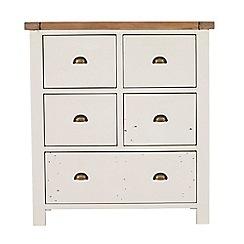 Debenhams - Two-tone 'Toscana' 5 drawer chest