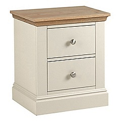 Debenhams - Oak and cream 'Oxford' bedside cabinet with 2 drawers