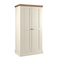 Debenhams - Oak and cream 'Oxford' double wardrobe