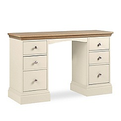 Debenhams - Oak and cream 'Oxford' dressing table