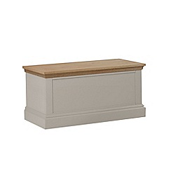 Debenhams - Oak and taupe 'Oxford' storage chest