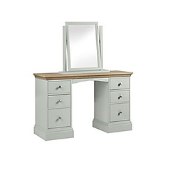 Debenhams - Oak and pale blue 'Oxford' dressing table with mirror