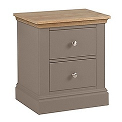 Debenhams - Oak and dark grey 'Oxford' bedside cabinet with 2 drawers