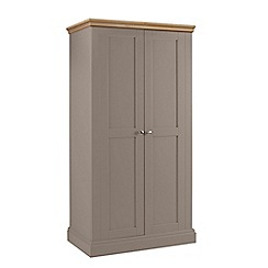 Debenhams - Oak and dark grey 'Oxford' double wardrobe