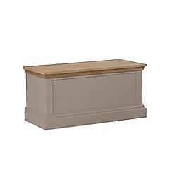 Debenhams - Oak and dark grey 'Oxford' storage chest