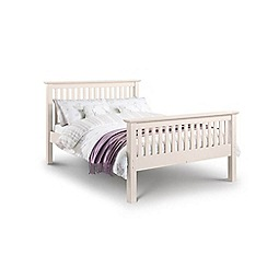 Debenhams - Soft white 'Barcelona' bed frame