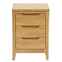 RJR.John Rocha - Oak 'Efni' bedside cabinet with 3 drawers