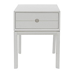 J by Jasper Conran - White painted 'Ellsworth' bedside cabinet with single drawer