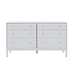 J by Jasper Conran - White painted 'Ellsworth' 6 drawer chest