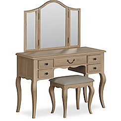 Corndell - 'Ascot' dressing table, mirror and stool set