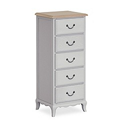 Corndell - Light grey 'Ascot' tall 5 drawer chest