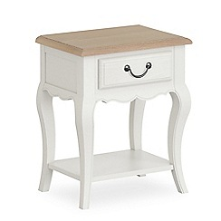 Corndell - Off white 'Ascot' single drawer bedside cabinet