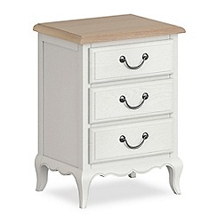 Corndell - Off white 'Ascot' 3 drawer bedside cabinet