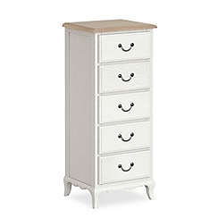 Corndell - Off white 'Ascot' tall 5 drawer chest