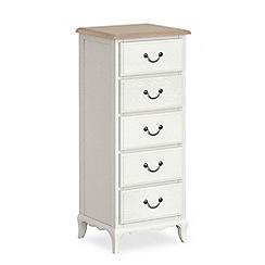Corndell - Off white 'Ascot' tall 5 drawer chest