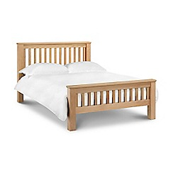 Debenhams - Oak 'Newbury' bed frame with 'Elite' mattress