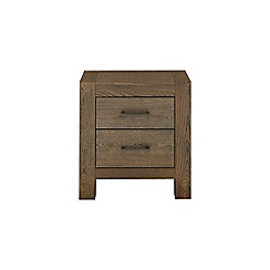 Debenhams - Oak 'Turin' bedside cabinet with 2 drawers