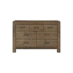 Debenhams - Oak 'Turin' 7 drawer chest