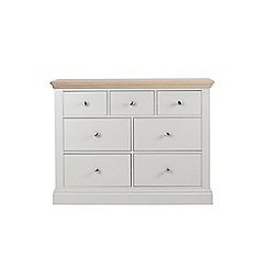 Corndell - Lime oak and grey 'Oxford' 7 drawer chest