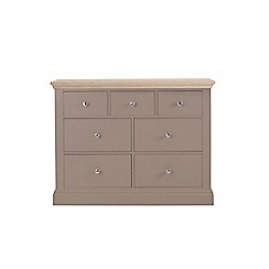 Corndell - Lime oak and dark grey 'Oxford' 7 drawer chest