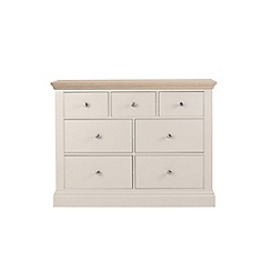 Corndell - Lime oak and cream 'Oxford' 7 drawer chest