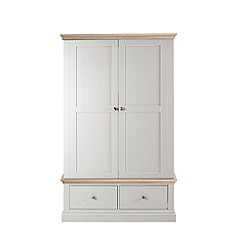 Corndell - Lime oak and grey 'Oxford' double wardrobe with drawers