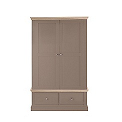 Corndell - Lime oak and dark grey 'Oxford' double wardrobe with drawers