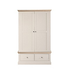 Corndell - Lime oak and cream 'Oxford' double wardrobe with drawers