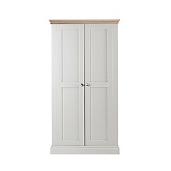 Corndell - Lime oak and grey 'Oxford' double wardrobe