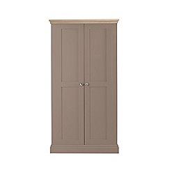Corndell - Lime oak and dark grey 'Oxford' double wardrobe