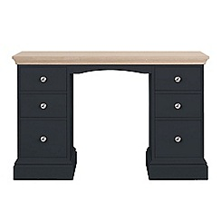 Corndell Lime oak and black 'Oxford' dressing table